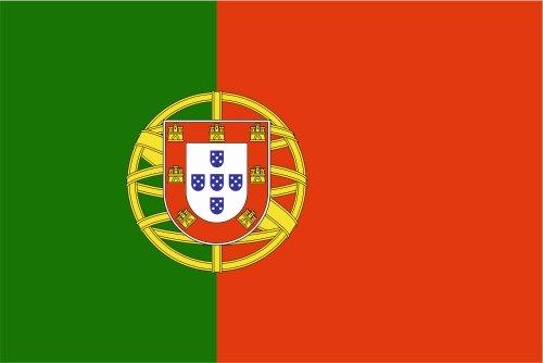 Pegatina para coche con bandera de Portugal, 15 cm, laminado muy duradero