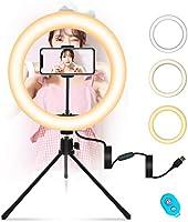 環形燈 MOUNTDOG led環形燈 led 攝影 自拍燈 攝影用照明 帶三腳架支架 照明 攝影燈 3種模式 11級調光 usb式 視頻通話用補光 帶遙控器 女演員 輔助光 美顏 照片視頻 直播 youtube用燈
