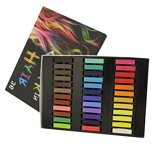 PIXNOR 1 Conjunto / 36 Pcs Giz de Cabelo Criativo Colorido Prático Lavável Temporário Descartáveis Canetas Coloridas Canetas de Tingimento Corante Acessórios para Adultos Homens