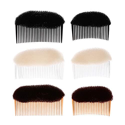 FRCOLOR Haarkissen Haarpolster Schwamm Bump Up Einsatz Haar Styling Frisur Werkzeug Haar Accessoires mit Kämm Seitenkamm 6pcs Frauen Mädchen DIY Frisur Haarstyling Zubehör