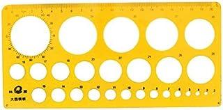 eDealMax Círculos Rango 2 mm-40 mm Diámetro de dibujo plantilla de la plantilla Regla