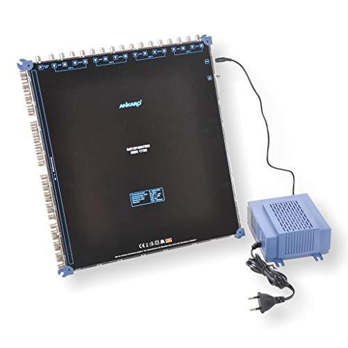 ANKARO Multischalter SEM 17/32 für den Empfang von Vier Satellitenpositionen an bis zu 32 Teilnehmer / 4K, 3D, UHD tauglich/Quattro LNC geeignet