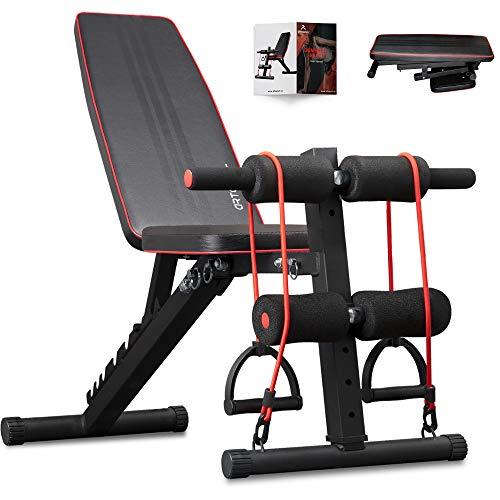 arteesol banco de pesas ajustable, banco de entrenamiento multifunción banco de ejercicios Banco de abdominales plegable para entrenamiento de cuerpo completo