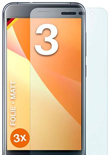 moex Schutzfolie matt kompatibel mit Asus Zenfone 3 (ZE552KL) - Folie gegen Reflexionen, Anti Reflex Bildschirmschutz, Matte Bildschirmfolie - 3X Stück