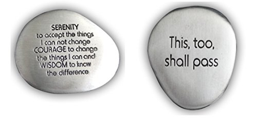 Serenity Prayer Soothing Stone and This Too Shall Pass Soothing Stone