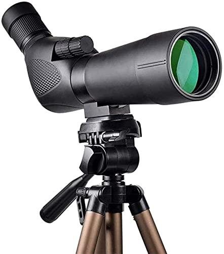TEPET Regalo 20-60x60 Monoculares HD BAK4 Telescopio de Ocular en ángulo de 45 Grados y Aumento de Zoom de 20x-60x con trípode, Bolsa de Transporte