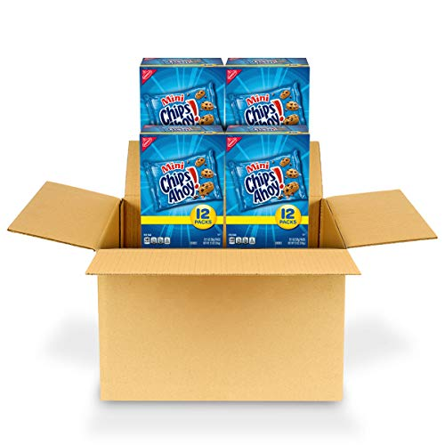 CHIPS AHOY! Mini Chocolate Chip Cookies, 12 - 1 oz Packs (4 Boxes)