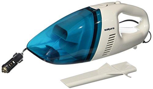 Sakura ss5314Tragbare Staubsauger für Auto und Caravan, weiß/blau, 60W-12V