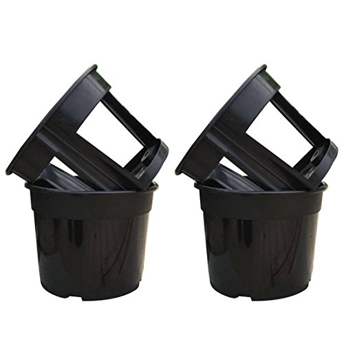 Yamix 2 Set 2-in-1 Plastic Garden Planter Pot Vegetable Growing Container Grow Vegetables: Potato, Carrot, Tomato, Ginger, Peanuts Onion (Small)