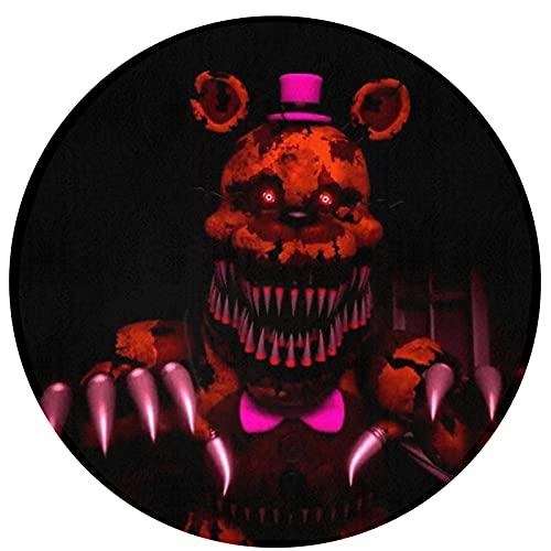 Five Nights at Freddy - Alfombra circular antideslizante para dormitorio, sala de estar, lavable a máquina, decoración del hogar, piso interior