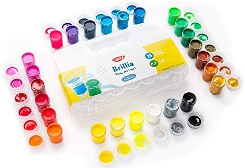 DACO Brillia Kids Paint 25 Colors Art Set 0 7 fl oz 20ml Paint Pots with Carry Case School Supplies product image