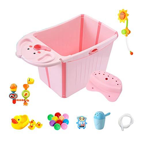 GY badkuip, opvouwbaar, draagbaar, vaak verwarmend, van kunststof kan zich verplaatsen en ontstaan, voor baby's en peuters, 2 kleuren, 87 x 47 x 38 cm