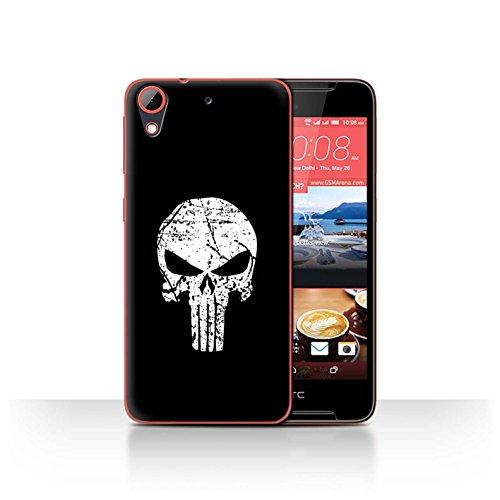 Hülle Für HTC Desire 628 Antiheld Comic-Kunst Punisher Inspiriert Design Transparent Ultra Dünn Klar Hart Schutz Handyhülle Hülle