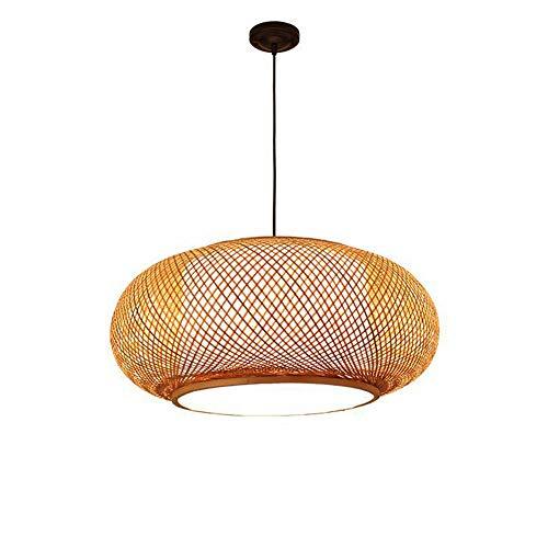 MTCTK DIY handgefertigte Kronleuchter kreative Bambus Kunst Rattan Pendelleuchte linterior Beleuchtung dekorative Hängeleuchte,S