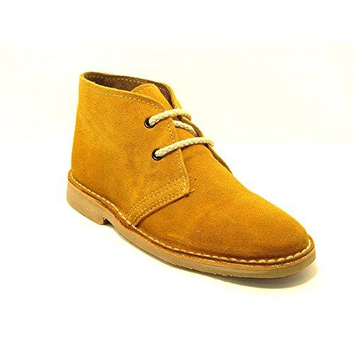 K100FP - La Auténtica , Unisex-Erwachsene Desert Stiefel , gelb - Senf - Größe: 39