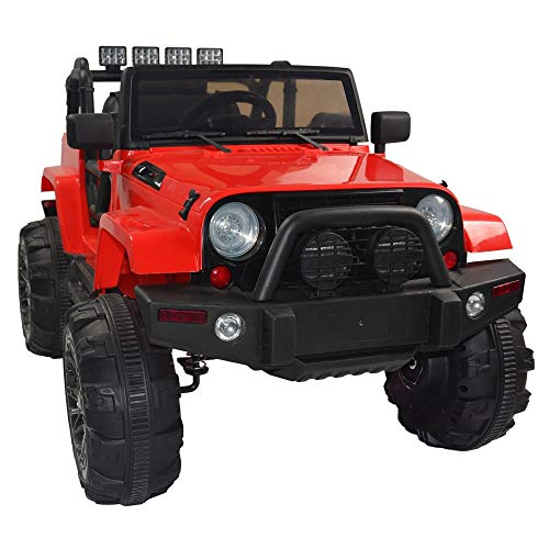 Electric Cars for Kids, Kids Toddler Ride On Cars 12V Battery Motorized Vehicles Children's Best Toy Car Safe with 3 Speeds, Music, seat Belts, LED Lights and Realistic Horns ( Color : Red )