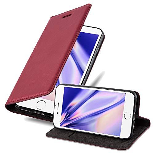 Cadorabo Funda Libro para Apple iPhone 7 / 7S / 8 / SE 2020 en Rojo Manzana - Cubierta Proteccíon con Cierre Magnético, Tarjetero y Función de Suporte - Etui Case Cover Carcasa
