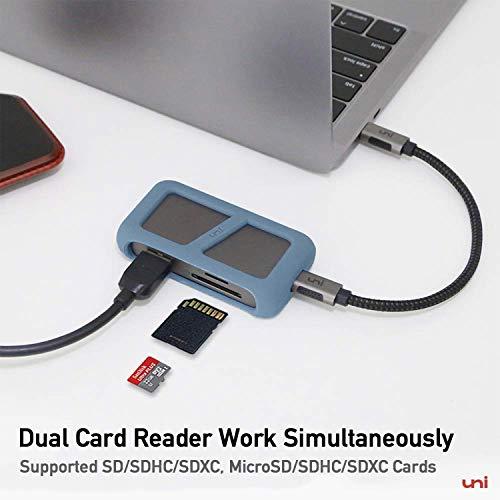 uni USB C Hub, USB C Adapter 6 in 1, mit 4K HDMI Adapter, TF/SD Kartenleser, 2 USB 3.0, PD 100W, Kompatibel für MacBook Pro, iPad Pro, Chromebook, XPS und mehr