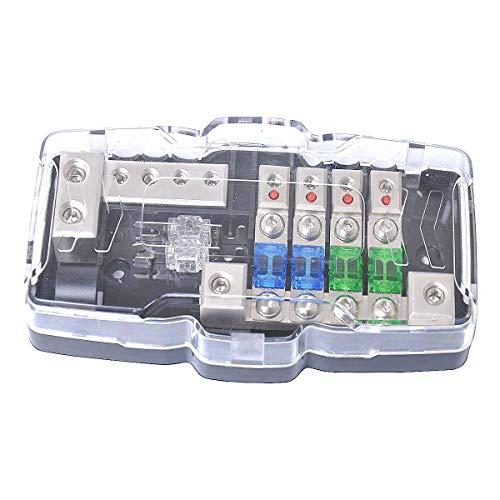 ANL Fuse block with Ground Camper RV Automotive Car Audio Distribution Block 0/4ga Fuse Box 30A 60A 80A mini ANL Fuses Grounding Block