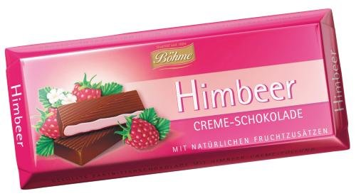 Böhme Himbeer Creme Schokolade, 10-er Pack (10 x 100 g)