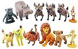 Jubasix The Lion King Action Figures Toys Set of 12 Pcs 1-2.3' Mufasa Simba Timon Pumbaa Zazu Cupcake Topper, Cake Toppers, Cake Decoration Valibe Lking 12pcs Set Fig