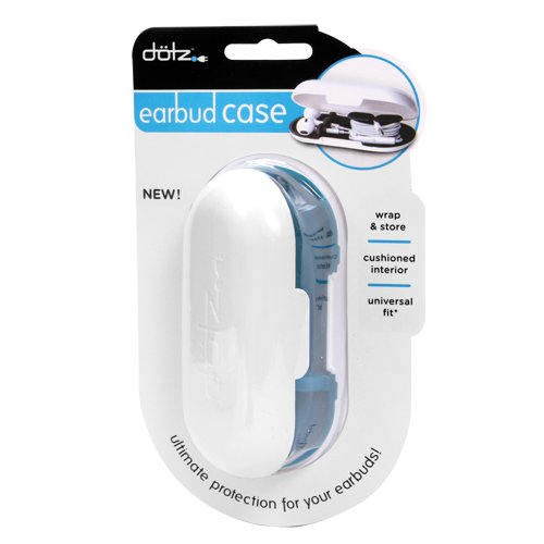 Dotz Earbud Case for Cord and Cable Management, Blue (EBC38M-CBL)