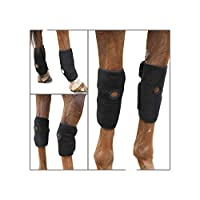 Can be used hot or cold to treat injury Gel packs can be heated in hot water or the microwave or cooled in water or the freezer. Ergonomically designed for comfort and specifically shaped to be used on joints as flexible neoprene and cut outs allow m...