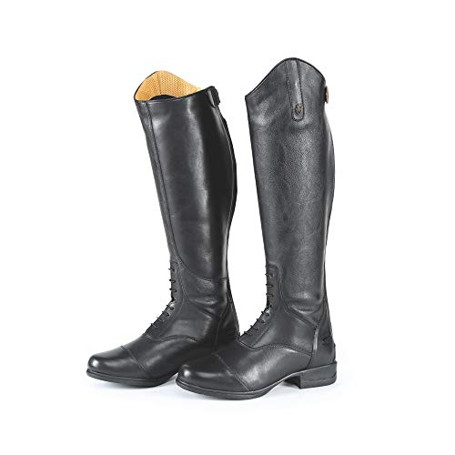 Shires Moretta Gianna Adults Leather Riding Boots - Black Adults 6