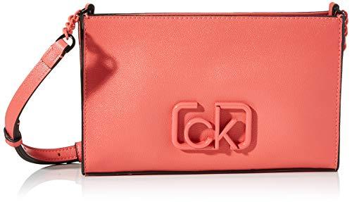 Calvin Klein Ck Signature Ew Crossbody - Borse a tracolla Donna, Rosso...
