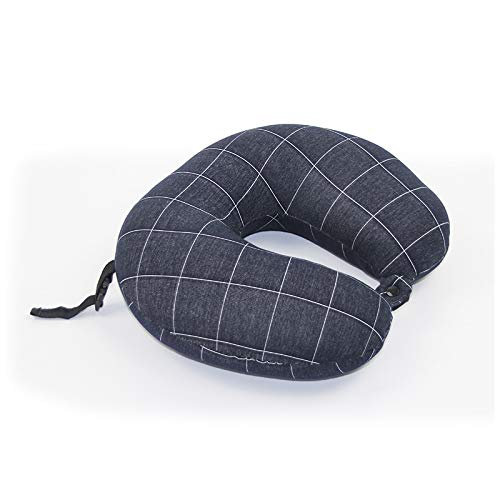N/H Polypheno Portable travel pillow, memory foam neck pillow support cushion (travel, travel, aircraft, automobiles) (Color : Navy Blue)