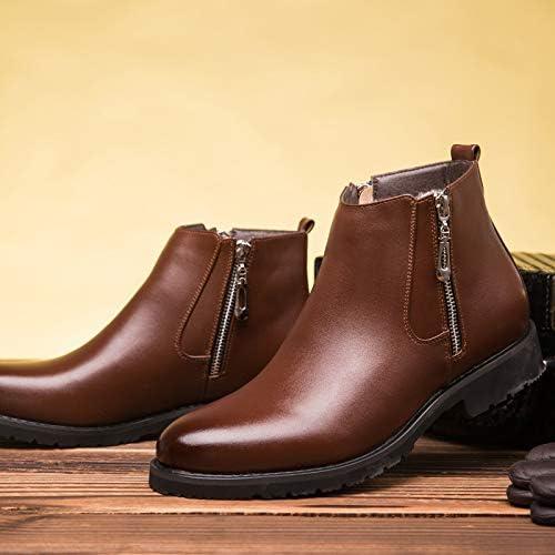 LOVDRAM Bottes Homme Hiver Nouveaux Hommes Haut pour Aide épaissir Martin Bottes Warm Mode Chaussures De Coton des Hommes Sauvages en Cuir Casual Chaussures Mode