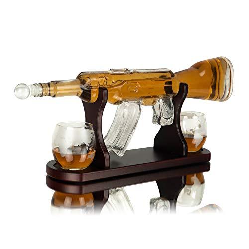 Whisiskey® Juego de jarra de whisky de 1000 ml, regalo para hombres...