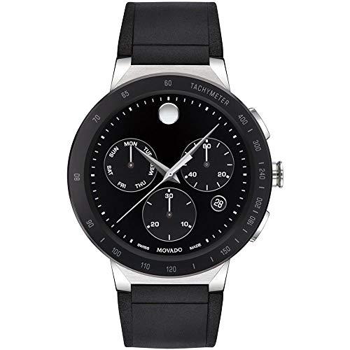 Movado Sapphire Chronograph Black Dial Men's Watch 0607240