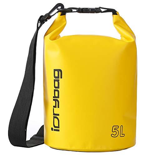 IDRYBAG Dry Bag Waterproof Floating, PVC Waterproof Bag Roll Top, 2L,5L,10L Dry Bag Kayak Storage for Kayaking, Boating, Rafting, Swimming, Hiking, Camping, Travel, Beach