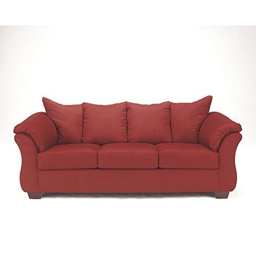 Ashley Furniture Signature Design - Darcy Contemporary Microfiber Sofa - Salsa