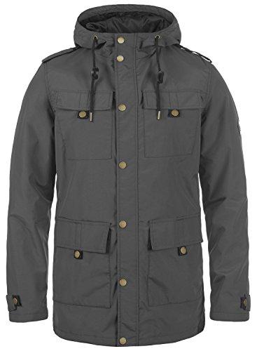 Redefined Rebel Moe Herren Übergangsjacke Parka Mantel Herrenjacke Jacke mit Kapuze, Größe:L, Farbe:Antracit Grey