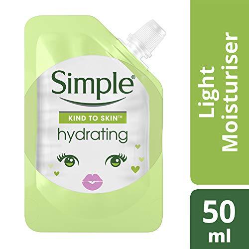 Simple, Mini crème hydratante légère pour homme et femme, revitalisante quotidienne pour des soins de la peau, grand pack (6 x 50 ml)