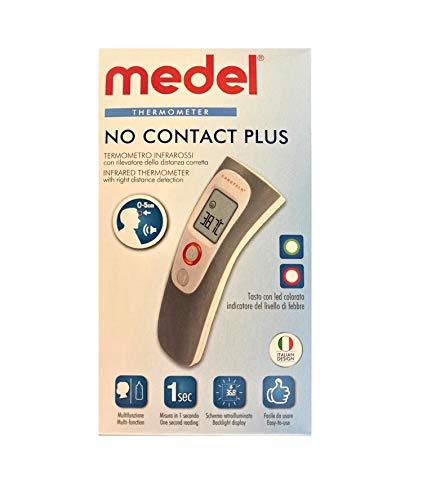 Termómetro infrarrojo frontal detector a distancia Medel No Contact Plus mide la temperatura en 1 segundo