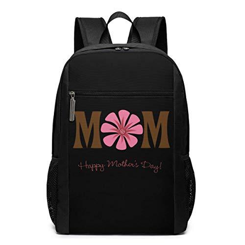 ZYWL Happy Mother's Day Mochila para computadora portátil Mochila de Viaje de 17 Pulgadas Mochila de Negocios Bolsa de Negocios