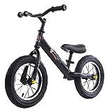 MEETGG Equilibrio de la bici del acero al carbono del marco sin pedal, asiento ajustable de la altura, bicicleta de entrenamiento para los niños