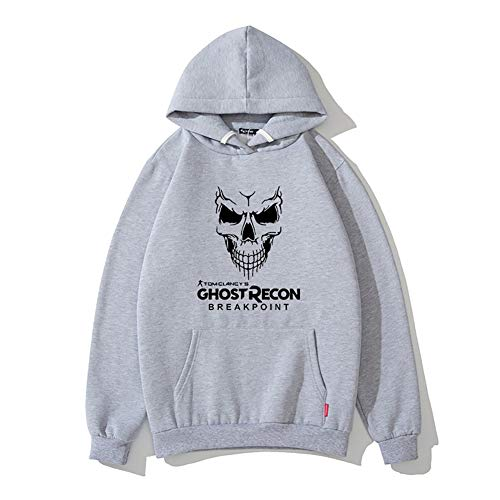 Shuihua - Hoodie Ghost Recon Unisexe: Wildlands Pull à Capuche avec Coulisse (Color : Gray, Size : Large)