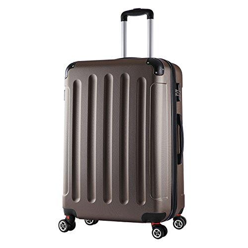 WOLTU RK4204co-XL, Reise Koffer Trolley Hartschale 4 Rollen Volumen erweiterbar, Reisekoffer Hartschalenkoffer Handgepäck groß M/L/XL/Set leicht & günstig...