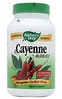 Natures Way Cayenne Pepper 450mg 100 Capsules