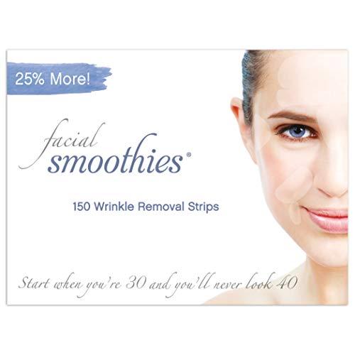 Facial Smoothies Faltenentferner-Pflaster, 150 Faltenentfernungsstreifen verschiedener Größen und Formen, Multipackung Faltenentferner Streifen, Anti-Falten-Pflaster
