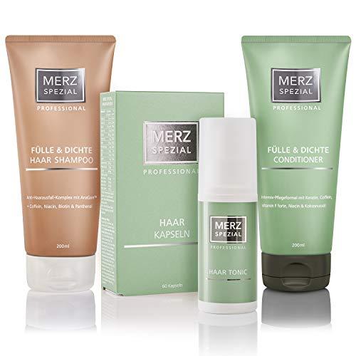 Merz Spezial Professional Set Haarkapseln, Shampoo, Conditioner & Tonic - für mehr Haarwachstum, weniger Haarausfall und weniger Haarbruch