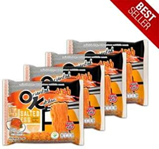 4 Packages Instant Noodles Oriental Kitchen (MAMA OK) Stir Fried Salted Egg Flavour / Product of Thailand