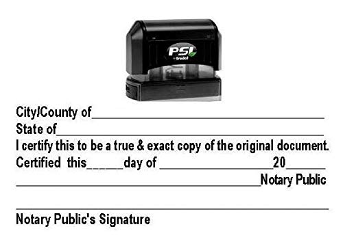 Notary Certified True Copy Stamp