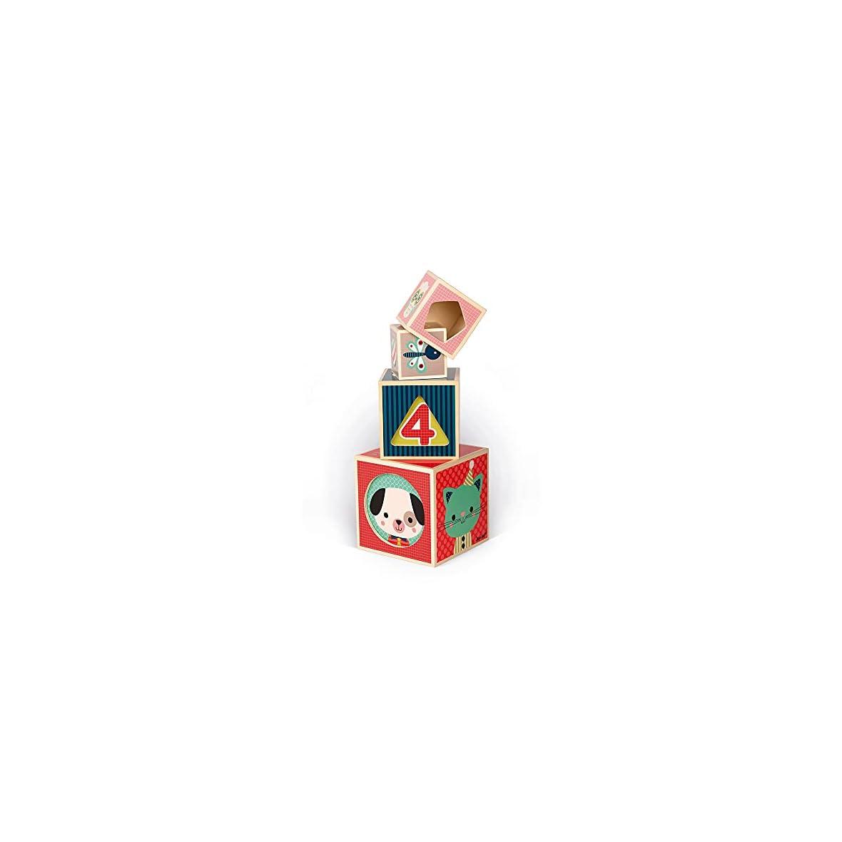 Janod-Piramide-de-6-Cubos-Baby-Forest-J08016