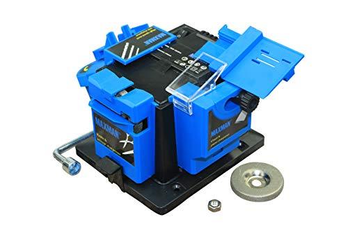MAXMAN Elektrischer Messerschärfer/Meißel/Hobelmesser/HSS Bohrer Schärfmaschine Verwendung für Küchenmesser, Multifunktionaler Schärfgerät, 400W Schleifgerät