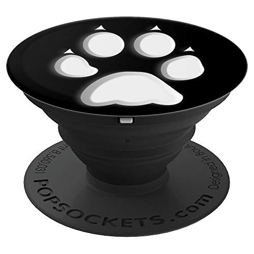 Paw Print Pop Up Cellphone Socket Holder,Pet Dog Popout Knob PopSockets Grip and Stand for Phones and Tablets